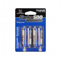 4pcs Ready-to-use rechargeable batteries Standard AA - 1500mAh Carica500 Beghelli