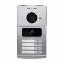 Hikvision DS-KV8402-IM IP-Video-Gegensprechanlagen 4 Klingeltaste mit 1.3mpx Kameras und Proximity Reader Mifare IP65