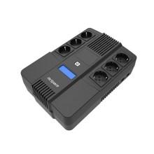 Line-Interactive UPS 600VA/360W 6 prese Schuko con display LCD protezione da sovraccarico