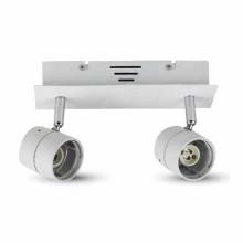 2*GU10 Plafond monter réglable V-TAC Track Light métal Corp Blanc VT-789 - SKU 3618