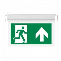V-TAC VT-522-S 2W Led Emergency Exit Sign recessed fixed chip samsung no black-out Battery IP20 - sku 385