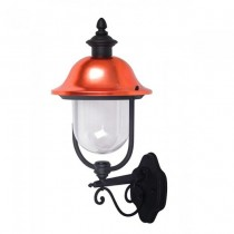 V-TAC VT-853 Portalampada wall light lanterna da giardino Facing-up alluminio nero e calotta in rame E27 IP44 - sku 7532