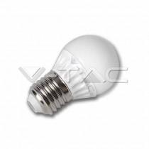 V-Tac VT-1830 Lampadina LED 4W E27 G45 Epistar luce bianco freddo 6000K - 4207