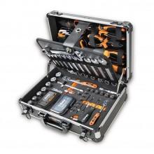 Valigetta porta attrezzi completa di utensili set 128pz. da lavoro per manutenzione generale 2054E/I-128