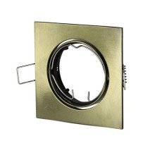 V-TAC VT-779SQ GU10-GU5.3 Beschlag Metallic Gold quadratischer 30° Verstellbarer für LED Spotlights - SKU 8581