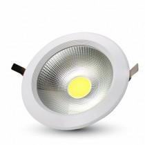 Faro da incasso rotondo LED COB 40W 120° 4800LM 4000K Φ207mm