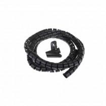 Raccogli cavi flessibile Ø 25 mm Nero - 2 metri