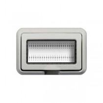 Idrobox Luna - Livinglight - Bticino cover IP55 4p white 24604N