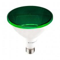 V-TAC VT-1227 Lampadina led smd 17W E27 PAR38 luce verde waterproof IP65 - SKU 92067