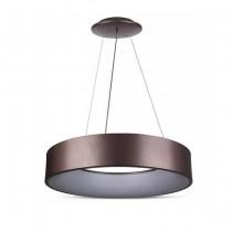 V-TAC VT-25-1-C lampadario led 20W sospensione in ferro con bordi illuminati dimming colore colore caffè - SKU 3994
