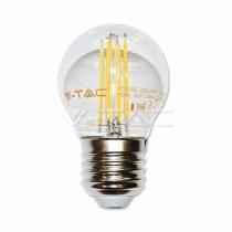 V-Tac VT-1980 Lampadina a LED 4W filamento E27 G45 luce bianco caldo 2700K - 4306