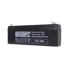 12V 2Ah rechargeable VRLA battery Elan BigBat - sku 01202