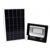 V-TAC VT-300W 300W LED Solar floodlight with IR remote control cold white 6000K Black body IP65 - sku 94027
