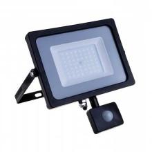 V-TAC PRO VT-50-S 50W LED flutlicht PIR sensor chip samsung SMD 4000K Ultra slim schwarz IP65 - SKU 470
