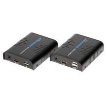 RX+TX extender HDMI+USB 1080p UTP cat5e/cat6 over ip - 100M