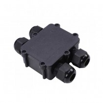 V-TAC VT-871 4pin junction box black pvc waterproof IP68 with terminals block  - SKU 5982