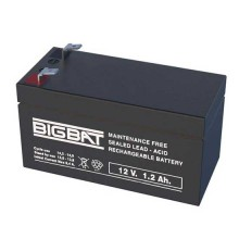 12V 1,2Ah wiederaufladbare VRLA-Batterie Elan BigBat - sku 012012