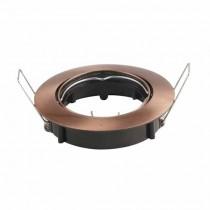 V-TAC VT-799RD GU10-GU5.3 Fitting metallic bronze round 15°Adjustable for Spotlights - SKU 8580