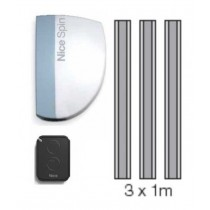 KIT garage automation NICE SPIN10KCE spin1 + guide 3pz + télécommande FLO2R