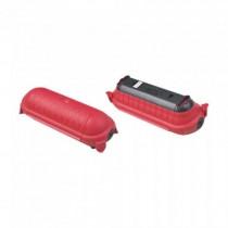 V-TAC VT-1124-3 Scatola box di sicurezza pvc con guarnizioni per prese elettriche colore rosso IP44 - sku 8819
