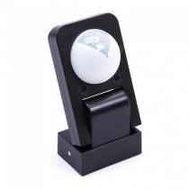 V-TAC VT-8083 Sensore di movimento a infrarossi IR + crepuscolare nero regolabile funzione manual override IP65 - sku 15011
