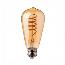 V-TAC VT-2144 4W Lampadina led E27 ST64 filamento spirale vetro ambra bianco caldo 2200K dimmable - SKU 7327