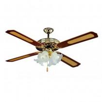V-TAC VT-6056-4 Ventilatore da soffitto 60W 4 pale in legno AC-Motor con portalampada per lampadine E27x4pcs - sku 7921