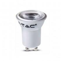 V-TAC PRO VT-232 2W LED spot birne chip samsung SMD GU10 Mini MR11 Ø35mm neutralweiß 4000K - SKU 870