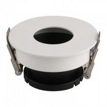 V-TAC VT-873 Plafond Rond blanc+noir réglable 15° twist to open pour Spotlights LED GU10-GU5.3 - SKU 3157
