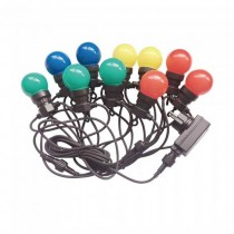 V-TAC VT-70510 catenaria luminosa led rgb lampadine 10pcs 5M raccordabile con ingresso e uscita 2PIN IP44 - sku 7435