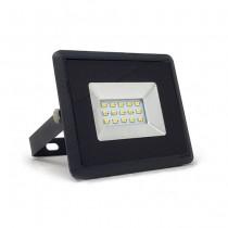 V-TAC VT-4011 10W LED floodlight ultra slim e-series cold white 6500K black body IP65 - SKU 5942
