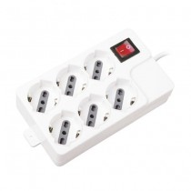 V-TAC Power Strip 6 Schuko Outlet 10/16A 3500W 1,5mt cable on/off switch Overload Protector - sku 8749