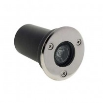 Steplight built-in spotlight 1w round aluminum warm white 2700k ip65