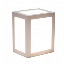 V-TAC VT-822 12W led wall light cube white body warm white 3000K IP65 - SKU 8334