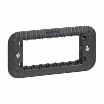 4-module support supplied with protective shell and fixing screws Bticino Living Now K4704