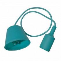 Portalampada decorativo pendente 1MT in silicone attacco E27 - Mod. VT-7228 SKU 3486 - Verde