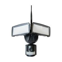 V-Tac VT-4818 Faro led 18W con sensore PIR e telecamera WiFi gestibile da smartphone Nero IP44 - SKU 5917