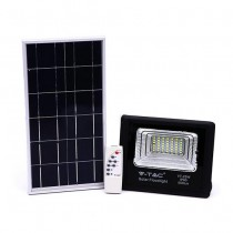 V-TAC VT-25W 25W LED Solar floodlight with IR remote control cold white 6000K Black body IP65 - 94006