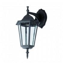 V-TAC VT-750 Portalampada lanterna Small Facing-Down alluminio IP44 nero E27 - sku 7068