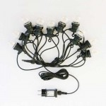 V-TAC VT-70510 catenaria luminosa led 3000K lampadine globo filamento 10pcs 5M raccordabile con ingresso e uscita 2PIN IP44 - sku 2728