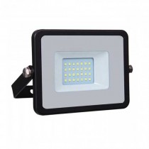 V-TAC PRO VT-20 20W Led Floodlight black slim chip samsung SMD cold white 6400K - SKU 441