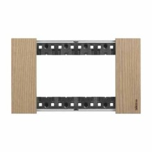 Placca Bticino Living Now 4 Moduli colore legno rovere KA4804LM