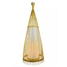 V-TAC VT-4150 Wooden Designer floor Lamp with rattan lampshade E27 Holder - sku 40561