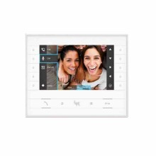 "BPT 62100570 Colour hands-free video receiver 7"" LCD display W Futura IP White"