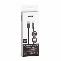 V-TAC VT-5334 1M Type-C USB data cable Nylon black platinum Series - sku 8491