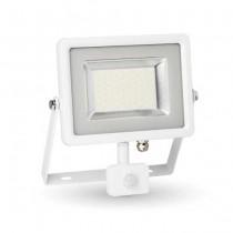 V-TAC VT-4830 faro led 30W con sensore PIR bianco freddo 6400K Ultra slim bianco IP44 - SKU 5752