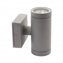 Lampada da parete esterna grigia IP54 2xGU10 Kanlux BART EL-235 Mod. 07080