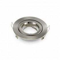 V-TAC VT-775 GU10-GU5.3 Fitting satin nickel round 15°Adjustable TWIST TO OPEN for Spotlights - SKU 3646