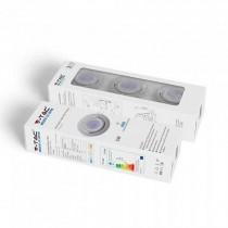Kit super saver pack V-TAC VT-3333 Confezione 3pcs lampadine spot led gu10 5W 6400K con staffa e portafaretto orientabile bianco - sku 8883