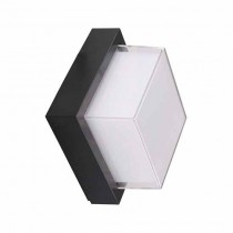 V-TAC VT-831 Lampada LED 7W bianco caldo 3000K corpo quadrato nero waterproof IP65 - sku 8612